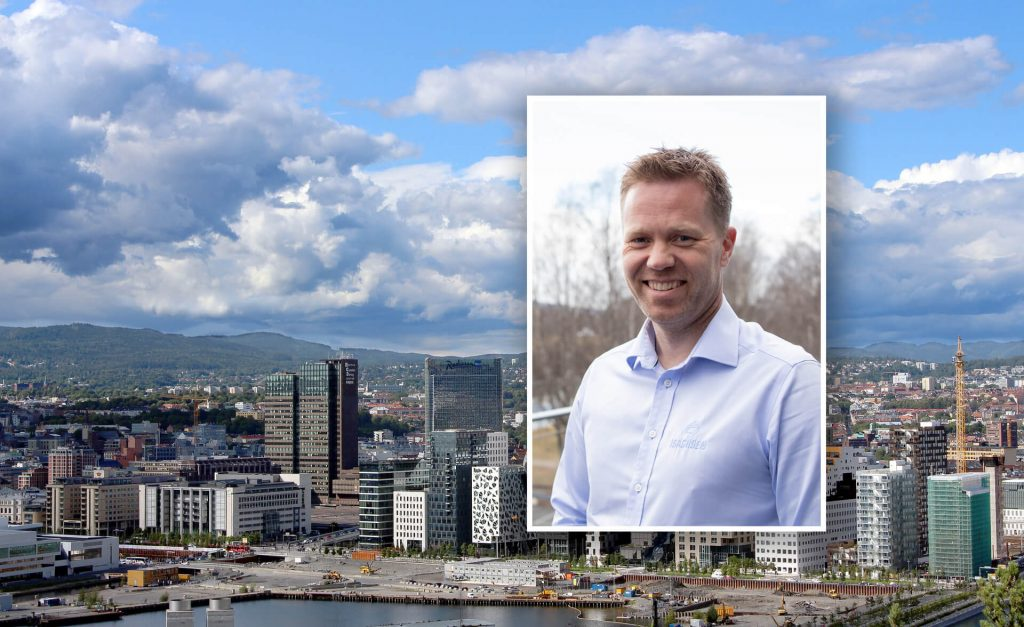 Oversiktsbilde Oslo. Anders Høiback innfelt.